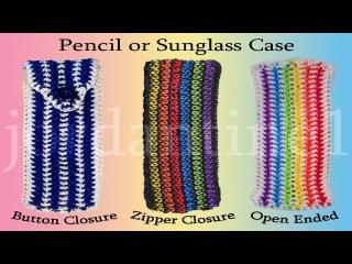 Пенал из резинок New Pencil / Glasses / Sunglasses Pouch Case - Rainbow Loom - Hook Only - Rubber Band Crochet