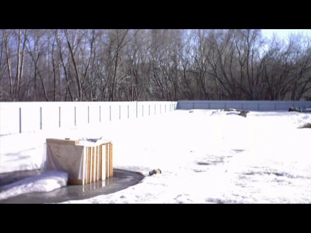 Таяние снега весной