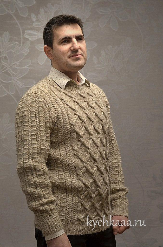 купить мужской свитер ручной работы