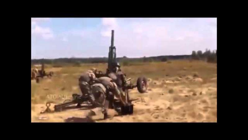 Уробыдло ведут обстрел из миномёта 2Б9 Василёк. Очередное доказательство геноцида населения Донбасса карателями хунты