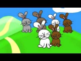 Bunnies on a hill - fun Easter song