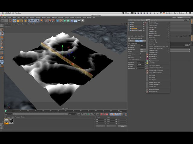 QuickTip 50 How to bake a Height Map in Cinema 4D