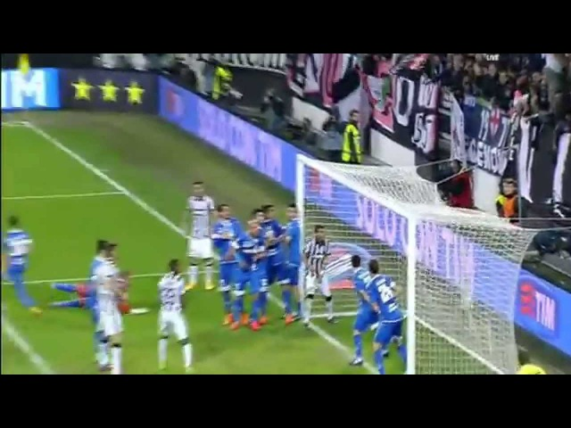 Monster Freekick Goal Carlos Tevez 1-0 Juventus vs Empoli 2015
