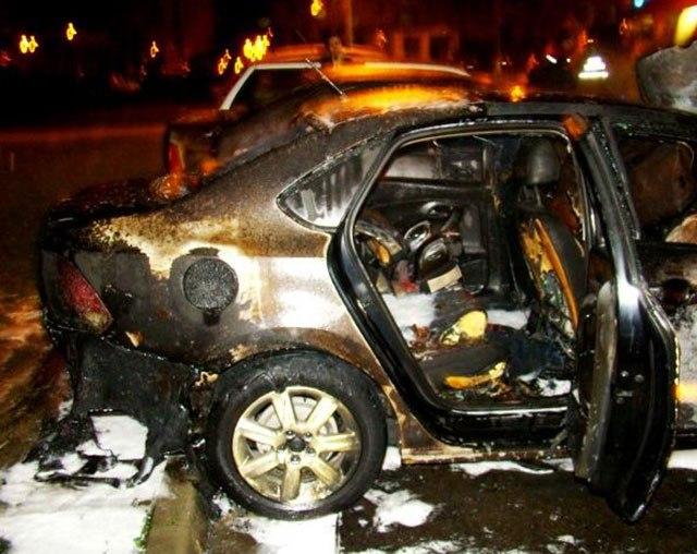 На этих выходных в Таганроге сгорел Volkswagen Polo