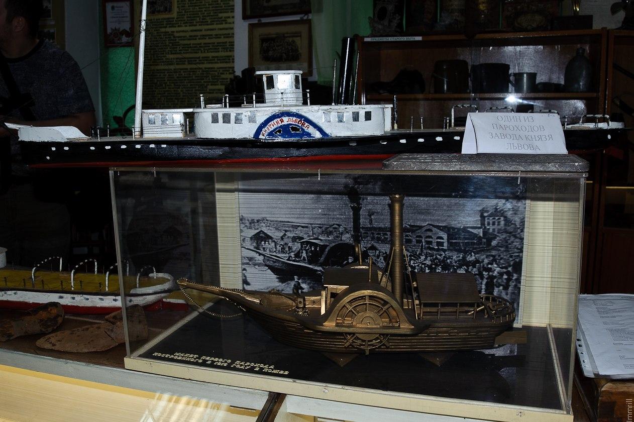 Макеты пароходов в Пожве