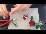 Роза из бисера. Часть 2_2. Бисероплетение. Beaded rose