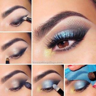 Асимметричный макияж глаз