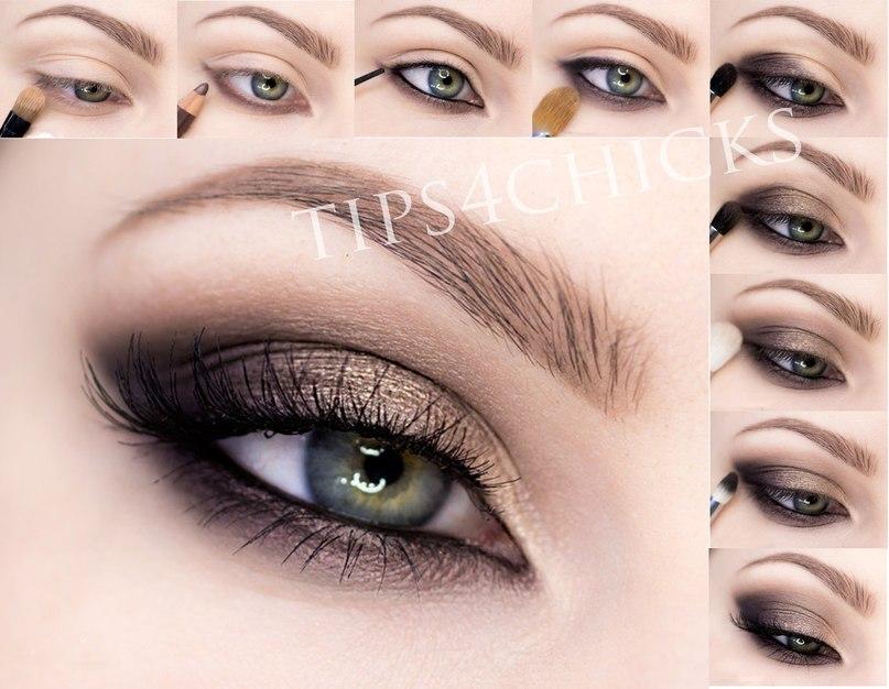 макияж кошачий глаз пошаговое фото