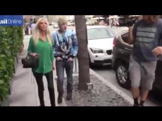Tara Reid and Jedward in Beverly Hills