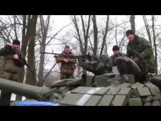 Ополченцы захватили у ВСУ танк подаренный Порошенко