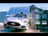 2013 Tesla Model S   Pole Crash Test by NHTSA  