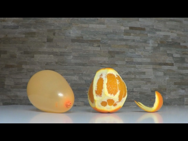 Popping Balloon with Orange