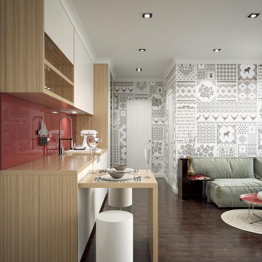 Проект квартиры 42 м для молодой семьи.