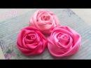 Как сделать РОЗОЧКИ из ЛЕНТЫ Ribbon Rose Tutorial ✿ NataliDoma DIY