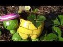 МК Как Сделать Черепаху из Пластиковой Бутылки для Вашего Сада