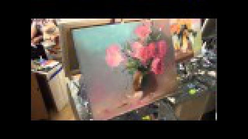 Букет мастихином научиться писать рисовать цветы масляная живопись Сахаров уроки в Москве