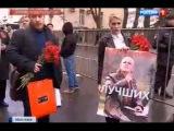 Акция памяти Бузины и Калашникова у посольства Украины в Москве