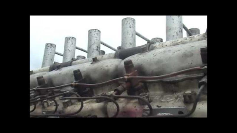 DIESEL V12 GERMAN WW11 TIGER TANK ENGINE RUNNING OPEN PIPES