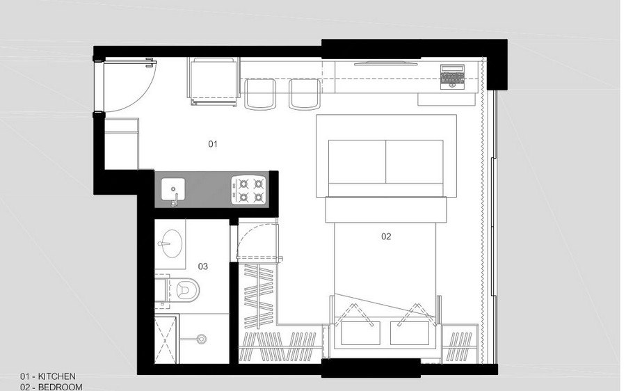 Квартира-трансформер 30 м.