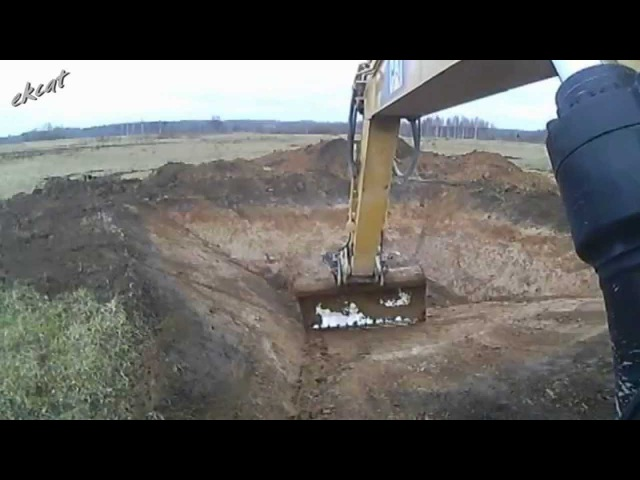 Копаем пруд. Digging a pond.