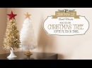 DIY Christmas Tree Coffee Filter Tinsel Arbol Navideño