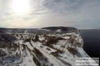01 марта 2015 -  Жигулевск: Вид на Моркваши и Лысую гору зимой с воздуха