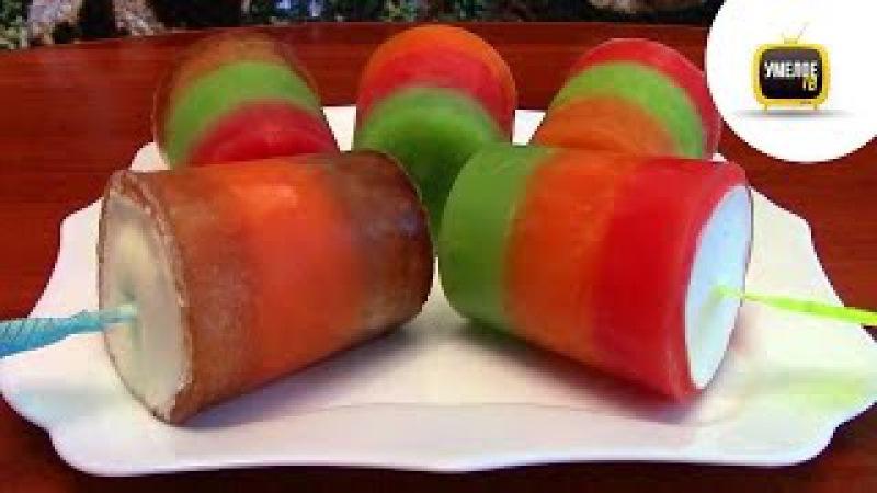 Видео как сделать фруктовое мороженое