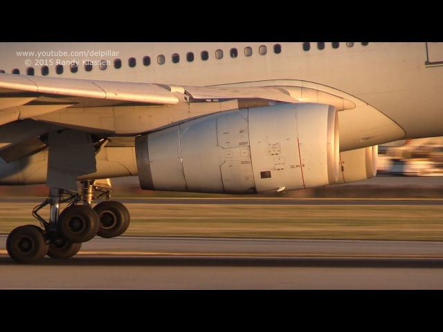 13 minutes of evening/sunset landings at YVR Vancouver