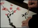 Китайский рисунок восточная живопись дерево сакура