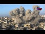 30.10.2015. Сирия. Попадания снаряда рядом с оператором боевиков