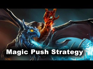 Magic AoE Push Strat - w33 vs dendi stacks Dota 2