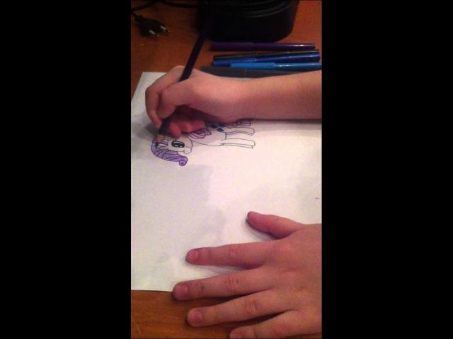 как нарисовать пони рарити