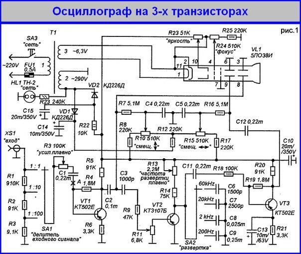 ПРОСТЕЙШИЙ ОСЦИЛЛОГРАФ НА 3-Х