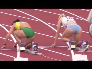 Легкая атлетика. Бег на 110 метров с барьерами. Женщины