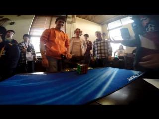 Феликс Земдегс. Мировой рекорд сборки кубика рубика одной рукой - 6.88 секунд!