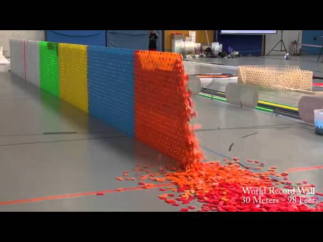 128 000 Dominoes Falling into past a journey around the world 2 Guinness World Records YouTub