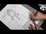 Manga Speed Manga Drawing Yasako from Dennou Coil
