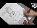 Manga Speed Manga Drawing: Yasako from Dennou Coil