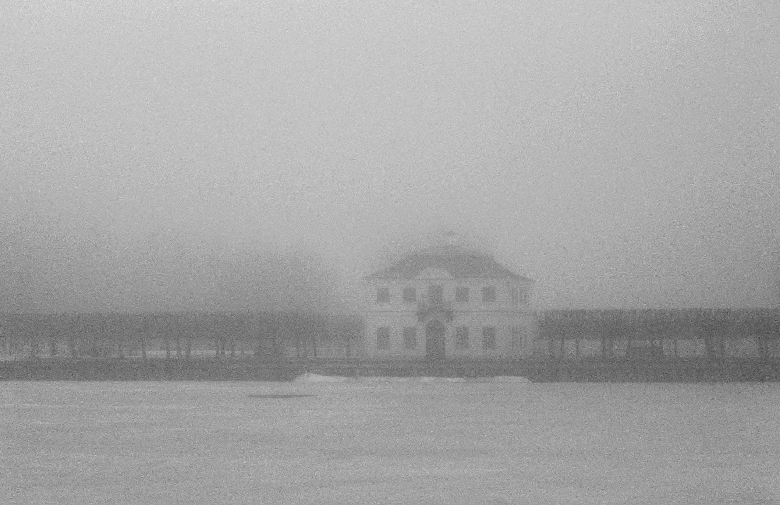 Петергоф, Дворец Марли, туман, сайлентхил
