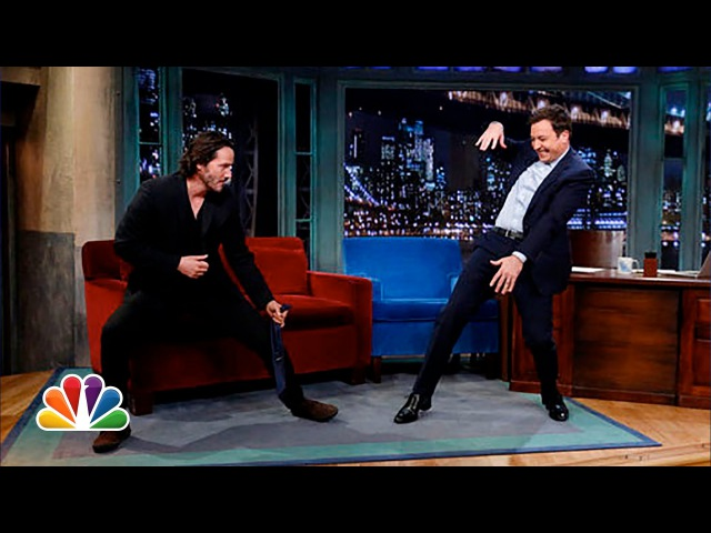 Keanu Reeves Defends Jimmys Tai Chi (Late Night with Jimmy Fallon)