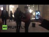 Aerosmith в Москве Стив Тайлер  спел на Арбате с уличным музыкантом !!!