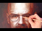 Drawing Walter White from Breaking Bad- Portrait Art Video (Brian Cranston)