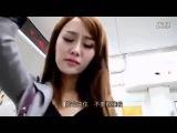 Японская девушка невольно испытала оргазм в метро Пародия на японский порно фильм
