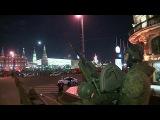 Тысячи зрителей наблюдали и за репетицией наземной части парада в честь 70-летия Победы - Первый канал