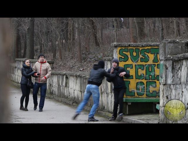 Уличное ограбление в Молдове Robbery prank in Moldova