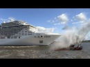 Cruise ship MSC Splendida playing We Will Rock You Seven Nation Army on its horn