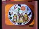 Декупаж Делаем настенные часы из фаянсовых тарелок и украшаем их росписью по керамике Мастер класс