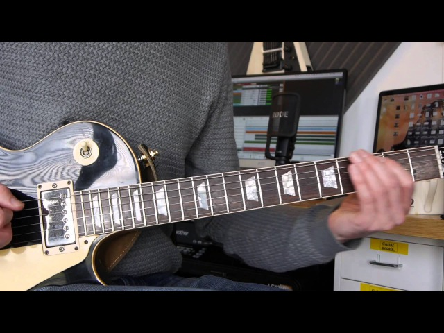 Gibson Les Paul Standard Marshall JVM205c demo Jam to my own track