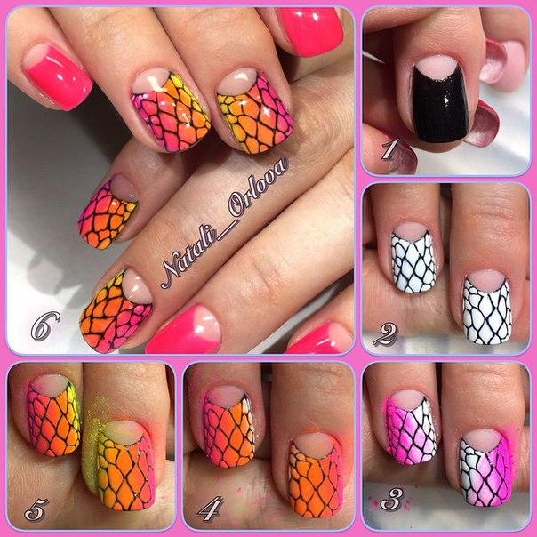 Дизайн ногте с пигментами