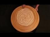 Рисунки из песка на гончарном круге